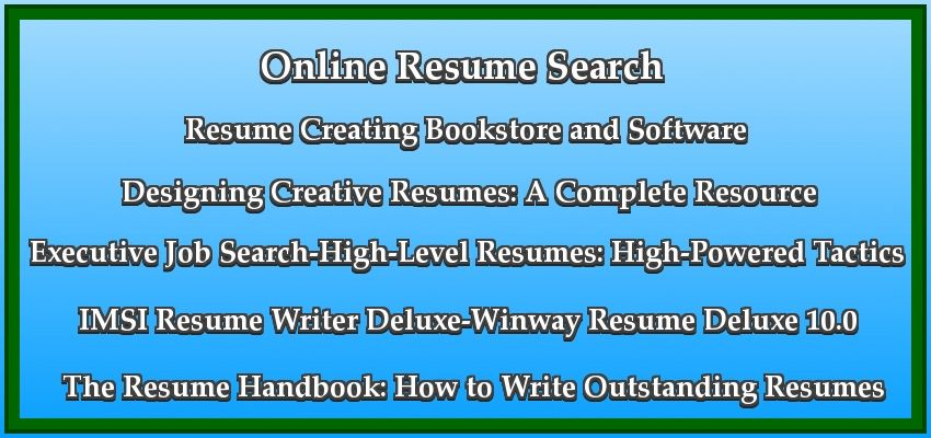 resume search guides click here